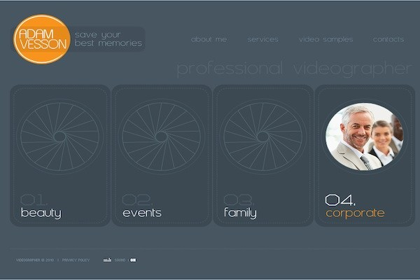 Adam Vesson Website Template
