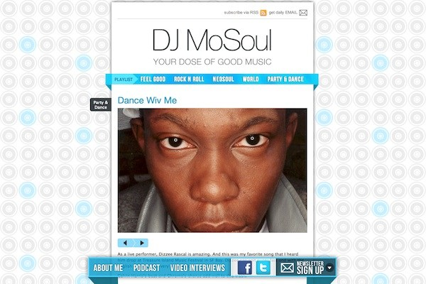 dj mosoul 35 Striking Examples of Circular Elements In Web Design