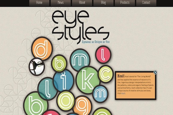 eye styles 35 Striking Examples of Circular Elements In Web Design