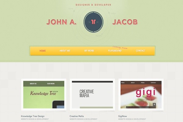 john a jacob 35 Striking Examples of Circular Elements In Web Design