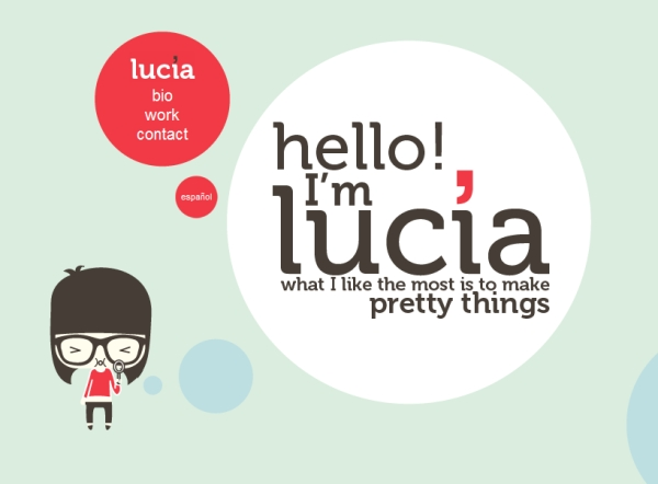 lucia soto 35 Striking Examples of Circular Elements In Web Design