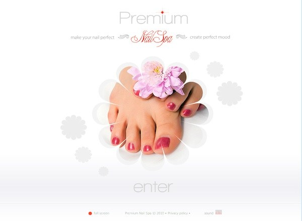 Nail Spa Website Template