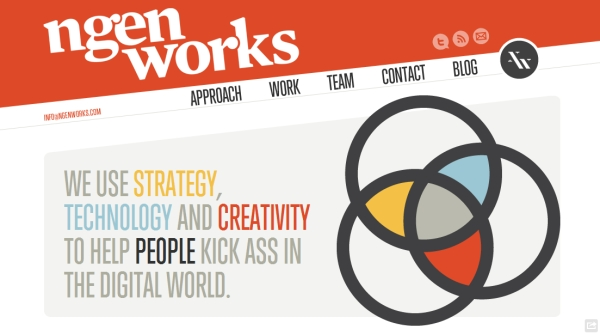 ngen works 35 Striking Examples of Circular Elements In Web Design