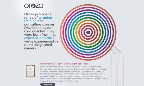 oroza 35 Striking Examples of Circular Elements In Web Design