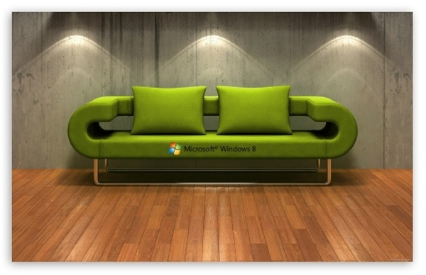 Windows 8 3D Couch Wallpaper