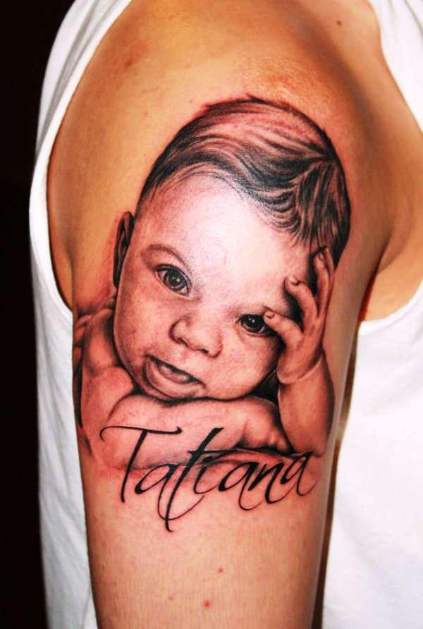 baby portrait 100 Tattoo Ideas You Should Check Before Getting Inked