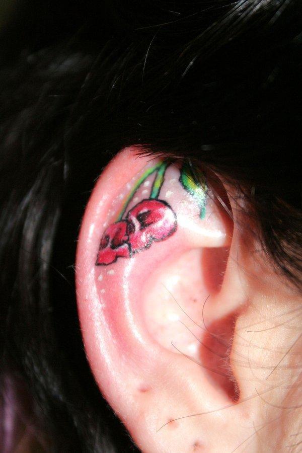 cherry ear tattoo 100 Tattoo Ideas You Should Check Before Getting Inked