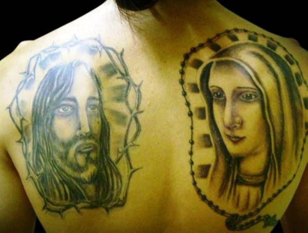 jesus and virgin mary tattoo 100 Tattoo Ideas You Should Check Before Getting Inked