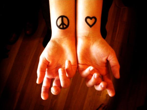peace and love tattoo 100 Tattoo Ideas You Should Check Before Getting Inked