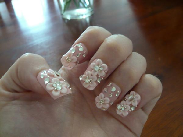 3D Hime Nails - 3D Nail Art - 25 Mind Blowing Collections Design Press