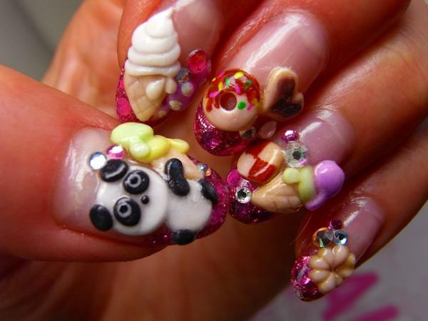 25 mind blowing 3d nail art slodive japanese food 3d nail prinsesfo Gallery