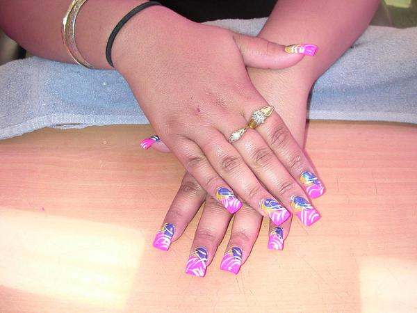 30 great acrylic nail designs slodive pink nails prinsesfo Images