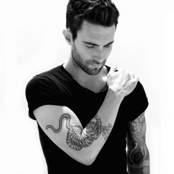 Adam Levine Left Arm Tattoo