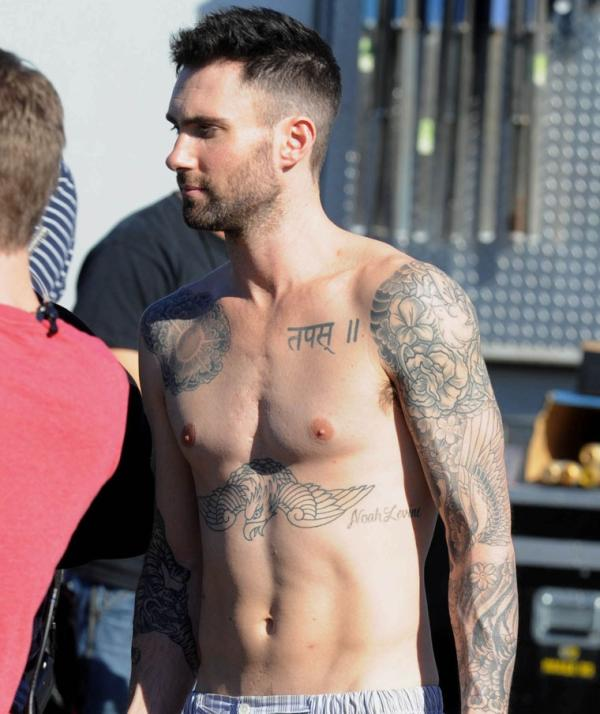 76f1d8be43e4c Adam Levine Tattoos - 25 Sexy Collections | Design Press