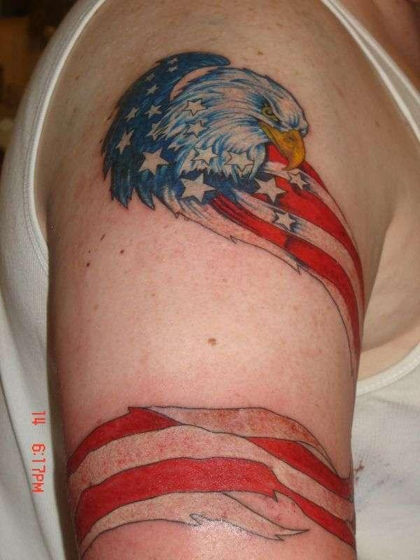 Eagle Flag Tattoo