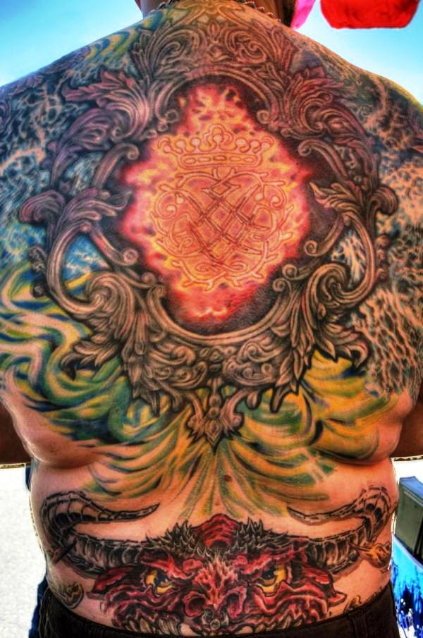 Biker Back Tattoos