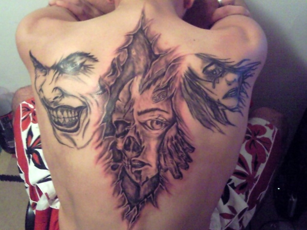 devils tale 30 Splendid Back Tattoos For Guys