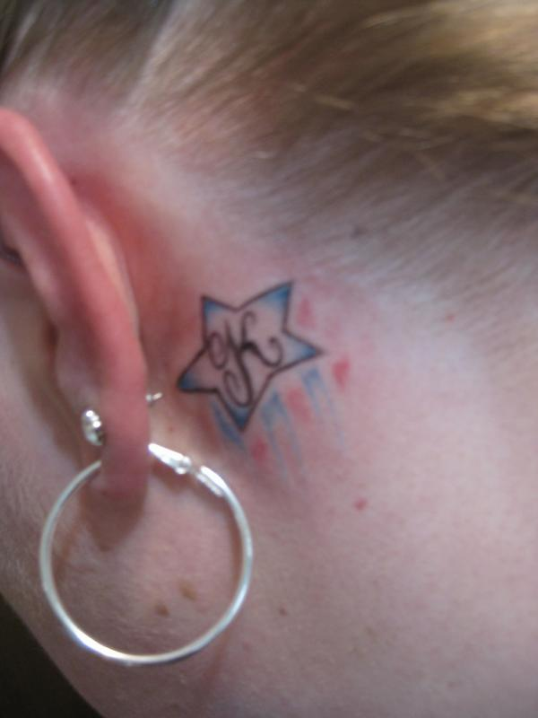 30 Cool Behind The Ear Tattoos