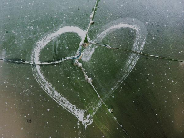Cracked Glass Broken Heart