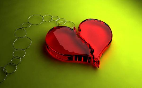 Broken Heart Key Ring