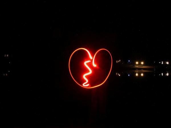 Broken Heart Light Painting
