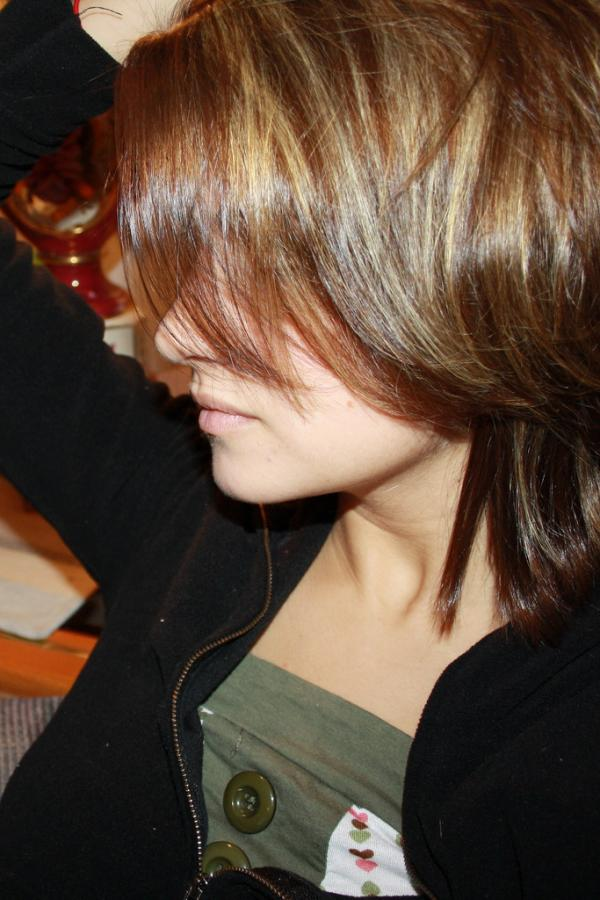 Caramel Covering Side Face