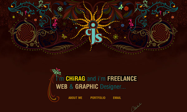 chiragjsolanki 40 Creative Placement of Contact Us Tab – A Showcase