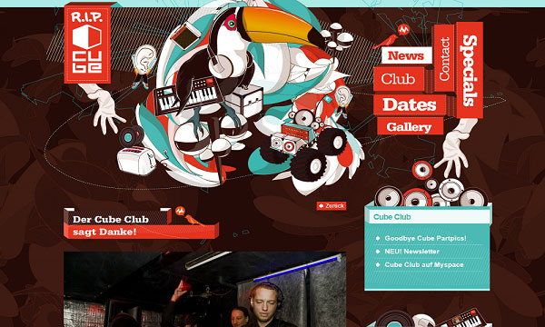 cubeclub 40 Creative Placement of Contact Us Tab – A Showcase