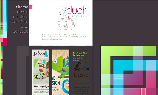 duoh 40 Creative Placement of Contact Us Tab – A Showcase