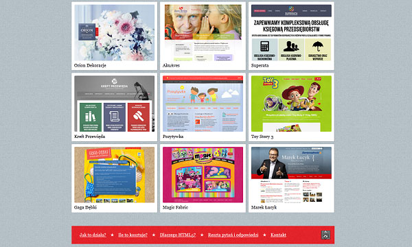 html5lab 40 Creative Placement of Contact Us Tab – A Showcase