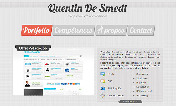 quentind 40 Creative Placement of Contact Us Tab – A Showcase