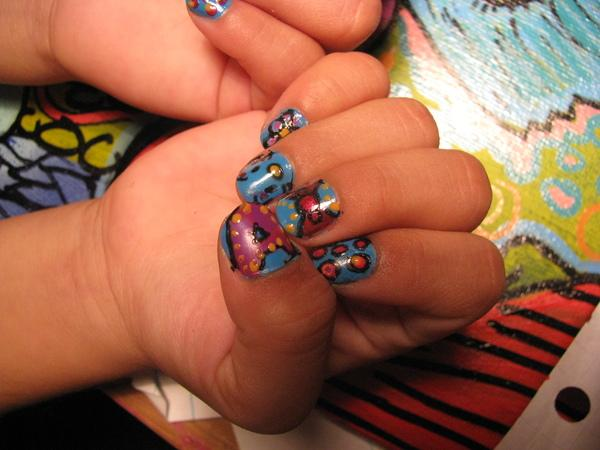 Cute Baby Designed Nails