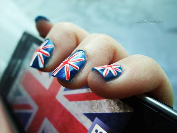 union jack 40 Cool Nail Designs You Will Love