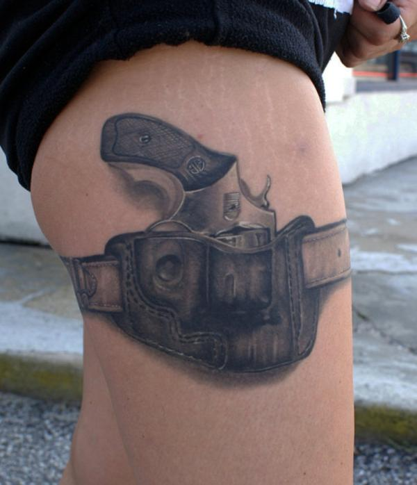 holster tattoo 35 Tremendously Cool Tattoos For Girls