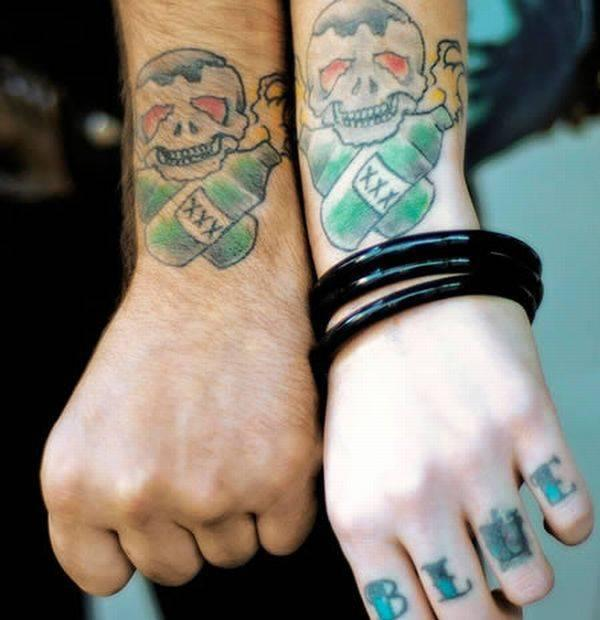 cutematching tattoo 40 Couple Tattoos You Can Have To Show Your Love