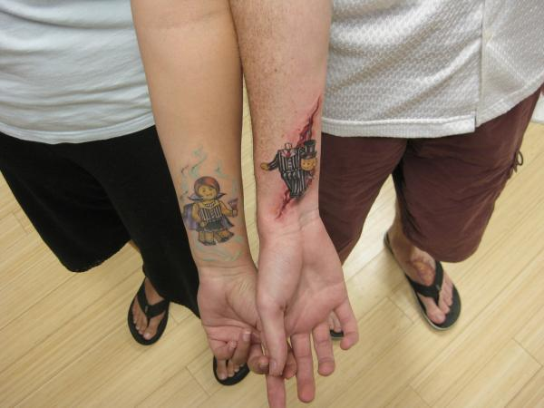 lego man wedding 40 Couple Tattoos You Can Have To Show Your Love