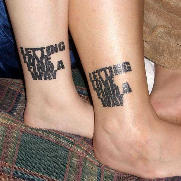 letting love 40 Couple Tattoos You Can Have To Show Your Love