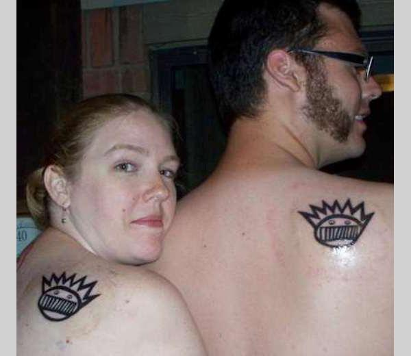 matching ween boognish 40 Couple Tattoos You Can Have To Show Your Love