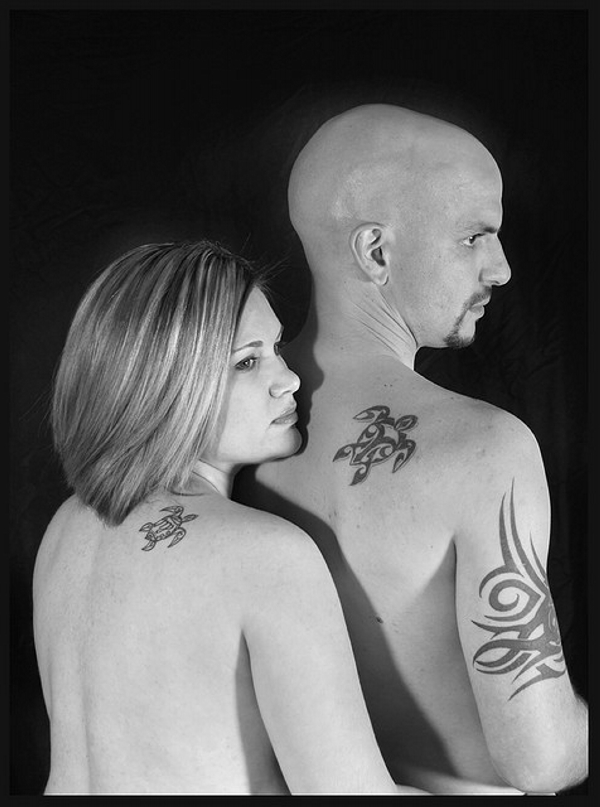 tortoise tattoo 40 Couple Tattoos You Can Have To Show Your Love