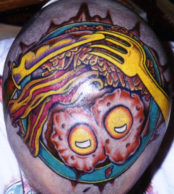 becaon eggs tattoo 35 Awesomely Crazy Tattoos