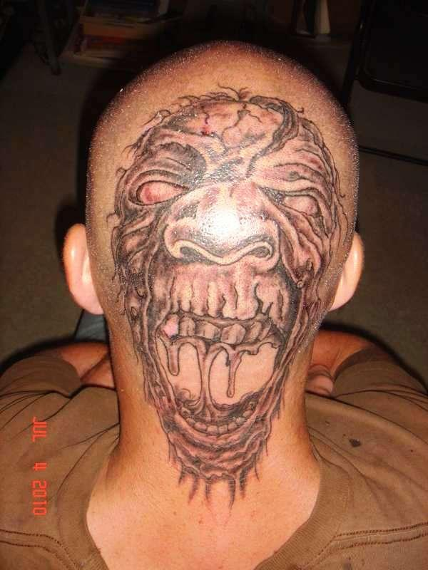 brothers head tattoo 35 Awesomely Crazy Tattoos