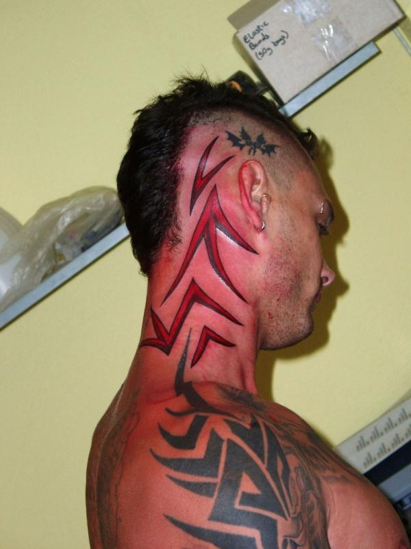 Stupendous 35 Awesomely Crazy Tattoos Slodive Hairstyles For Men Maxibearus