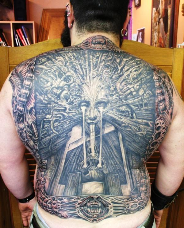 crazy back tattoo 35 Awesomely Crazy Tattoos