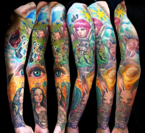 freaky wonderland 35 Awesomely Crazy Tattoos