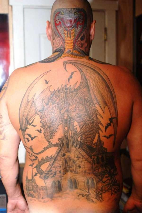 head and back 35 Awesomely Crazy Tattoos