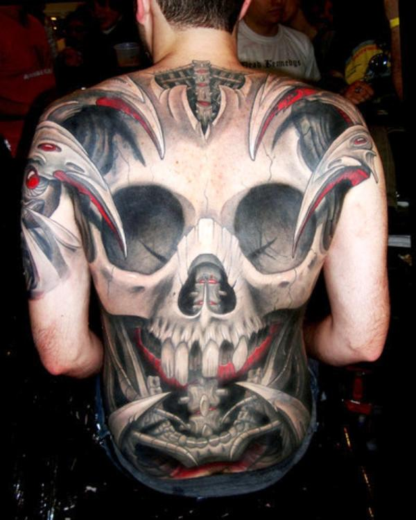 skull black tattoo 35 Awesomely Crazy Tattoos