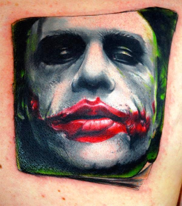 the joker tattoo 35 Awesomely Crazy Tattoos