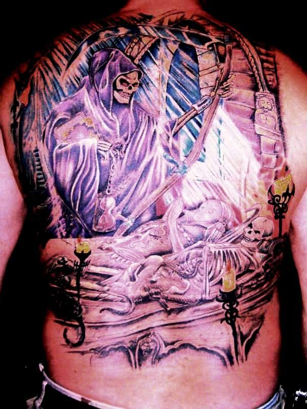 the reaper watches and waits tattoo 35 Awesomely Crazy Tattoos