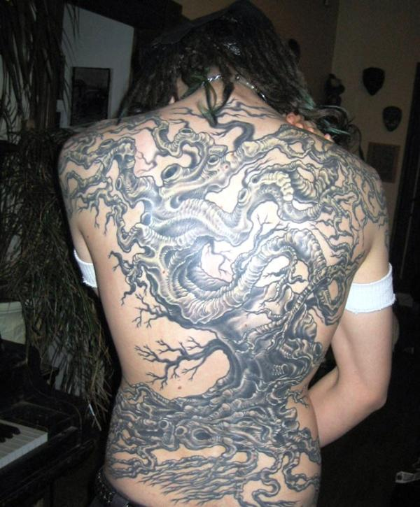 tree tattoo backpiece 35 Awesomely Crazy Tattoos