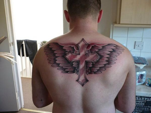 cross and wings tattoo 25 Glorious Cross With Wings Tattoo Designs
